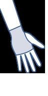 Skizze von BELSANA Handschuh ohne Daumen