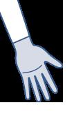 Skizze von BELSANA Handschuh mit Fingern