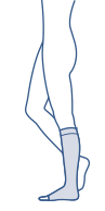 Skizze vom BELSANA Kniestrumpf